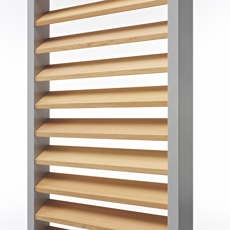 Protection solaire. Volet coulissant DucoSlide Luxframe cadre 40-80, Wood 100