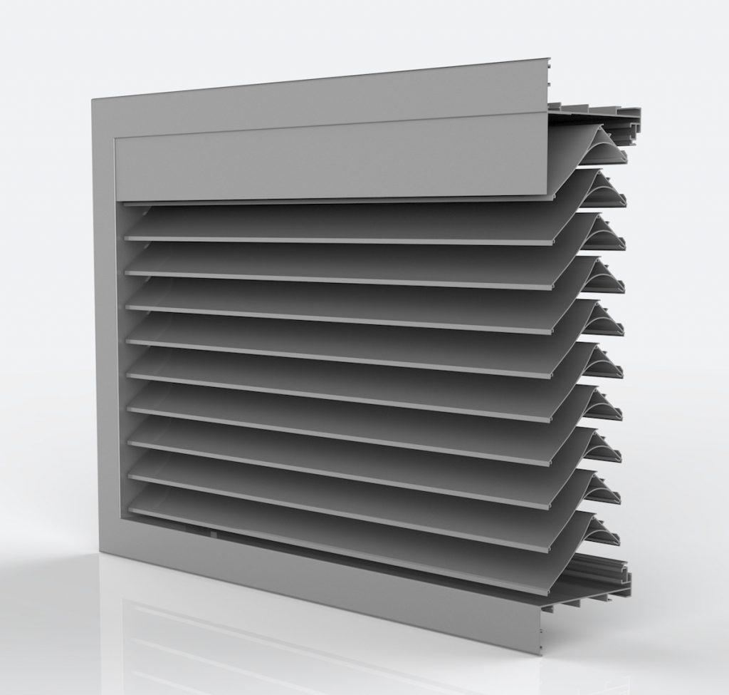 Ventilation. Grille de ventilation DucoGrille Classic 130HP