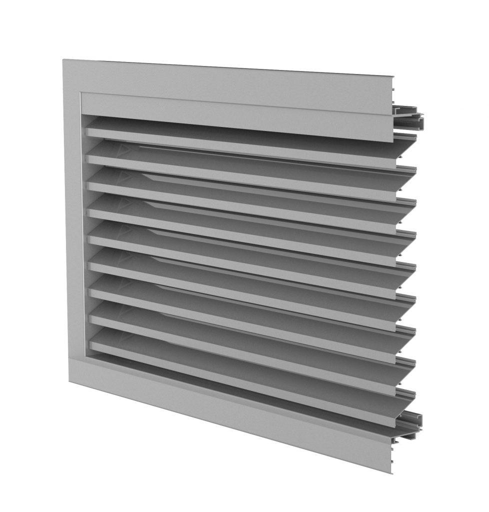 Ventilation. Grille de ventilation DucoGrille Classic 45-75S