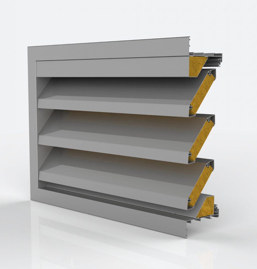 Ventilation. Grille de ventilation DucoGrille Acoustic Solid G 150