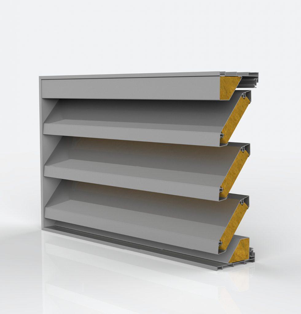 Ventilation. Grille de ventilation DucoGrille Acoustic Solid N 150