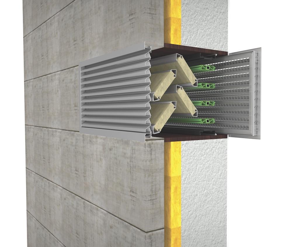 Ventilation. Grille de ventilation DucoGrille Close 105-AK