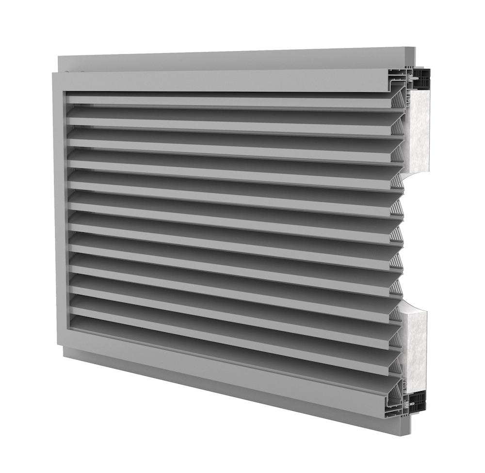 Ventilation. Grille de ventilation DucoGrille Solid ISO-F-30Z-P1